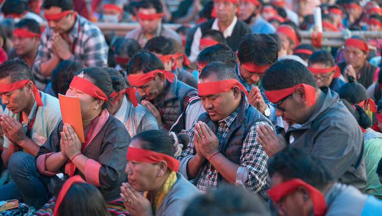 Some of the more than 200,000 people attending the the Kalachakra Empowerment in Bodhgaya, Bihar, India on January 11, 2017. Photo/Tenzin Choejor/OHHDL