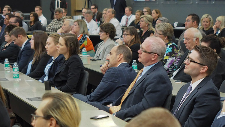 Members of the audience listening to the discussion on compassion at the Starkey Campus in Minneapolis, MN, USA on June 23, 2017. Photo by Jeremy Russell/OHHDL
