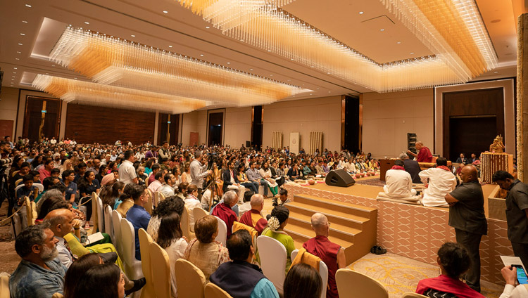 A view of the ballroom at the Conrad Hotel, venue for His Holiness the Dalai Lama's talk organized by Vidyaloke in Bengaluru, Karnataka, India on August 11, 2018. Photo by Tenzin Choejor