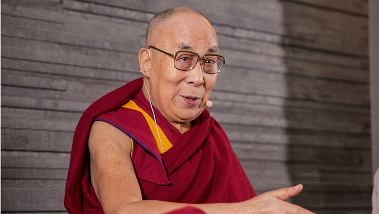 His Holiness the Dalai Lama during his meeting with members of the press in Malmö, Sweden on September 12, 2018. Photo by Malin Kihlström/IM