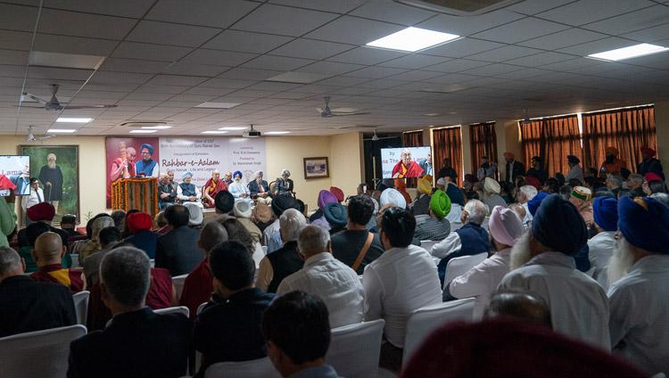 A view of the hall at Bhai Vir Singh Sahitya Sadan during celebrations of Guru Nanak's 550th Birth Anniversary in New Delhi, India on November 10, 2018. Photo by Tenzin Choejor
