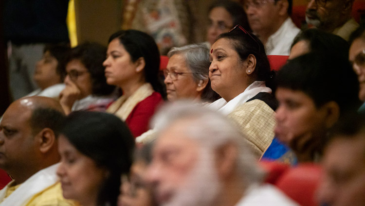 Some of the almost 300 students and faculty listening to His Holiness the Dalai Lama at the Conference on the Concept of 'Maitri' or 'Metta' in Buddhism at the University of Mumbai in Mumbai, India on December 12, 2018. Photo by Lobsang Tsering