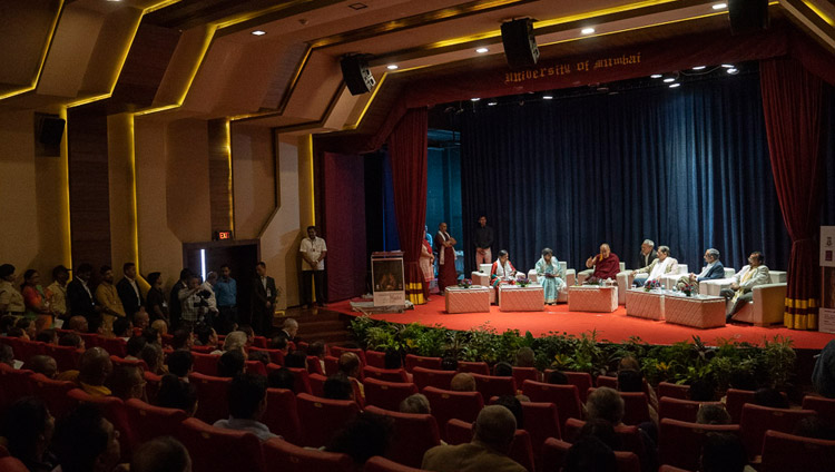 A view of University of Mumbai's Green Technology Auditorium during the inaugural session of the Conference on the Concept of 'Maitri' or 'Metta' in Buddhism at the University of Mumbai in Mumbai, India on December 12, 2018. Photo by Lobsang Tsering