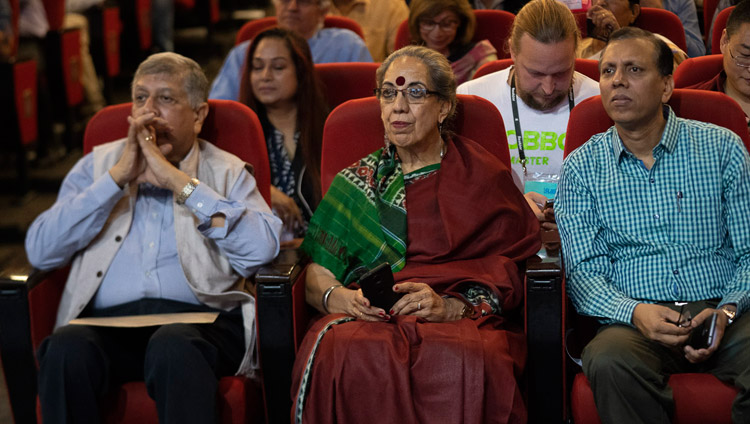 Members of the audience listening to His Holiness the Dalai Lama speaking at the Indian Institute of Technology Bombay in Mumbai, India on December 14, 2018. Photo by Lobsang Tsering