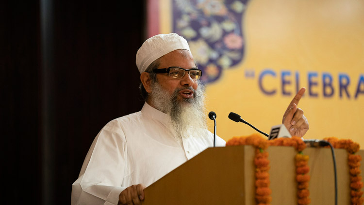 "Maulana Mahmud Madani addressing the conference on ""Celebrating Diversity in the Muslim World"" at the India International Centre in New Delhi, India on June 15, 2019. Photo by Tenzin Choejor"