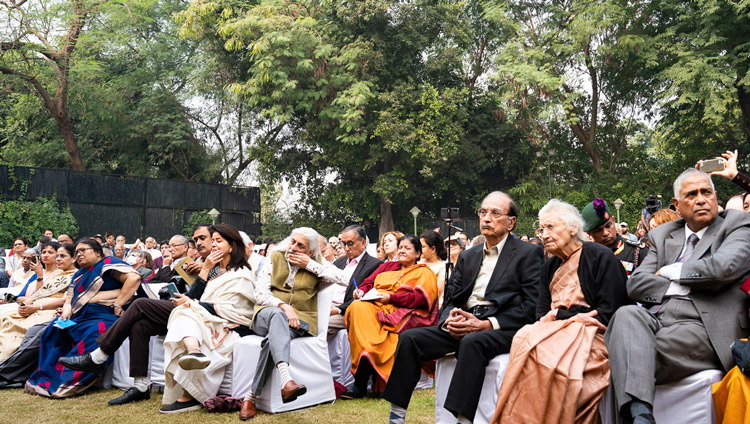 Some of the 250 people attending the 24th Sarvepalli Radhakrishnan Memorial Lecture at the Fountain Lawn of the Indian International Centre in New Delhi, India on November 21, 2019. Photo by Tenzin Choejor