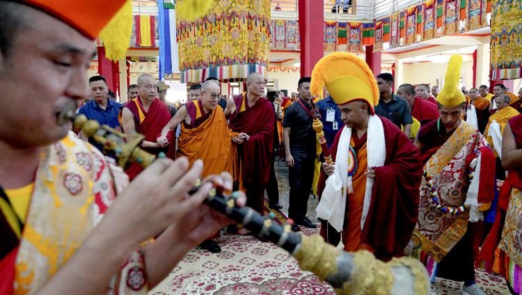 His Holiness the Dalai Lama arriving at Drepung Gomang Monastery in Mundgod, Karnataka, India on December 12, 2019. Photo by Lobsang Tsering